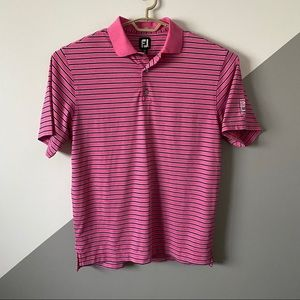 Footjoy M Golf Polo West Shore Country Club Pink